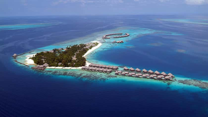 Aerial View, Coco Palm Bodu Hithi, The Maldives