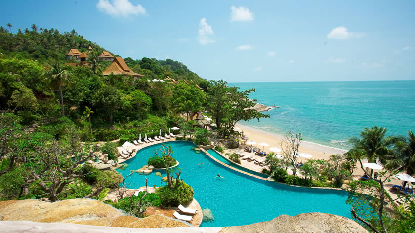 Stunning views, Santhiya Resort & Spa, Koh Phangan, Thailand