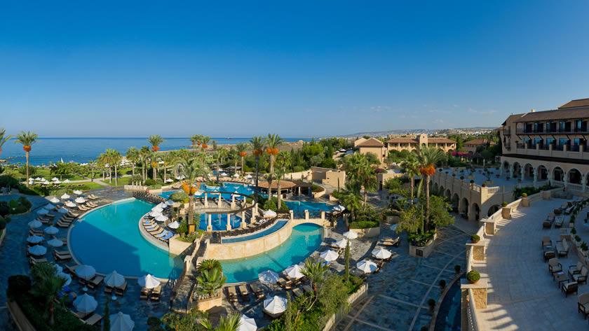Hotel and Sea, Elysium Hotel, Paphos, Cyprus