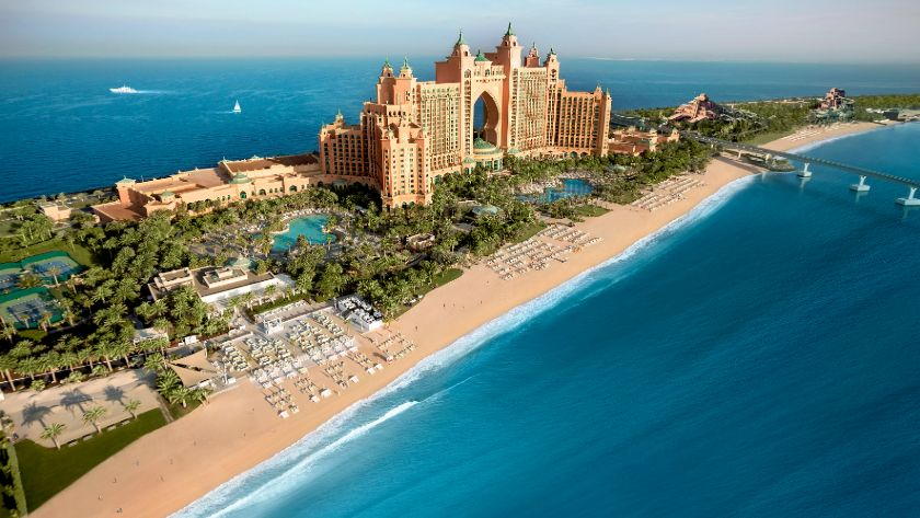View from the Beach, Atlantis, The Palm, Dubai
