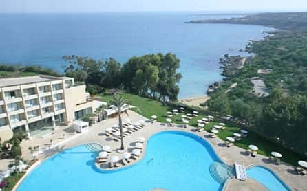 Pool & Beach View, Grecian Park Hotel, Cyprus